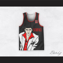 Tony Montana 11 Scarface Black Basketball Jersey