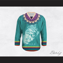 Biggie Smalls 60 Funky Style Teal Hockey Jersey