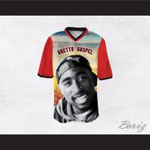 Tupac Shakur 6 Ghetto Gospel City and Sky Football Jersey