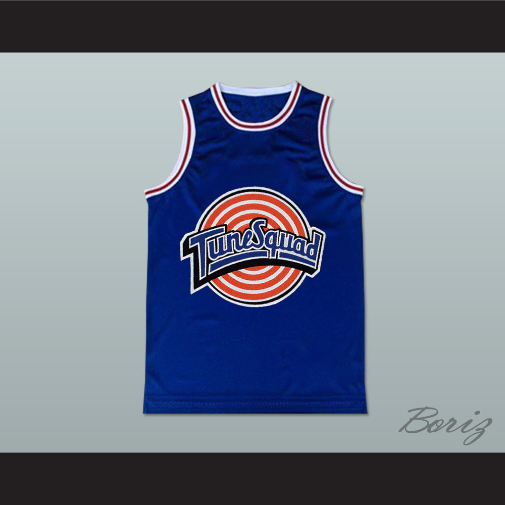 best service 46605 2128b Michael Jordan Space Jam Tune Squad Basketball Jersey Blue