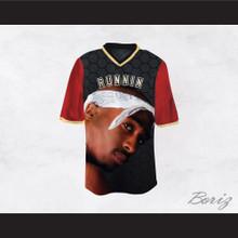 Tupac Shakur Makaveli 6 Runnin Black/Red Football Jersey