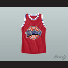 Michael Jordan Space Jam Tune Squad Basketball Jersey Red