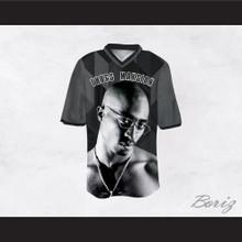 Tupac Shakur 24 Thugs Mansion Gray Geometric Football Jersey