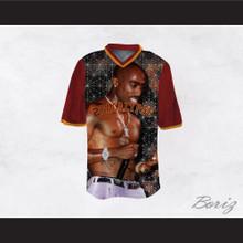 Tupac Shakur 16 2Pacalypse Maroon Sleeves Football Jersey