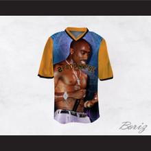 Tupac Shakur 16 2Pacalypse Orange Sleeves Football Jersey