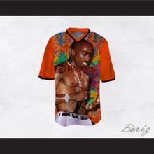 Tupac Shakur 16 2Pacalypse Orange Sleeves Funky Design Football Jersey