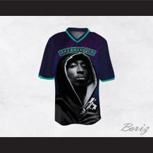 Tupac Shakur 16 Resurrection Dark Blue Football Jersey