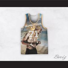 Tupac Shakur 71 Can't C Me Beach Sunset Basketball Jersey