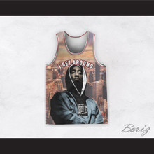 Tupac Shakur 1 I Get Around Cityscape Basketball Jersey