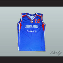 Vlade Divac 12 Yugoslavia Basketball Jersey Stitch Sewn Any Player