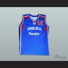 Vlade Divac 12 Yugoslavia Basketball Jersey Stitch Sewn Any Player