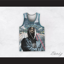 Tupac Shakur 1 I Get Around Middle of the Street Basketball Jersey