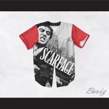 Al Pacino Tony Montana 8 Scarface Cityscape Baseball Jersey