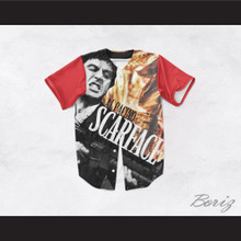 Al Pacino Tony Montana 8 Scarface Burning Baseball Jersey