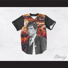 Tony Montana Scarface 45 Burning Coals Baseball Jersey