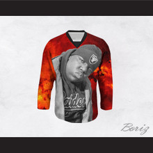 Biggie Smalls 21 Cosmic Red Hockey Jersey
