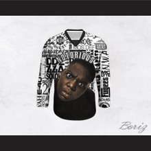 Notorious B.I.G. 21 Rapper Logos Hockey Jersey
