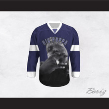 Big Poppa B.I.G. 21 Blue Hockey Jersey