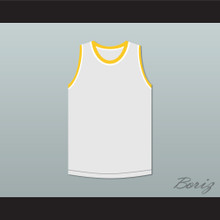 Bruce Leroy Green 85 The Last Dragon White with Yellow Graphics Jersey