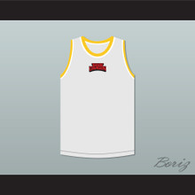 Bruce Leroy Green 85 The Last Dragon White with Red Graphics Jersey and Embroidered Patch