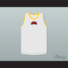 Bruce Leroy Green 85 The Last Dragon White with Yellow Graphics Jersey and Embroidered Patch