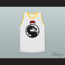 Bruce Leroy Green 85 Mortal Kombat The Last Dragon White with Yellow Graphics Jersey and Embroidered Patch