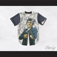 Tony Montana Scarface 20 Cash Money Baseball Jersey