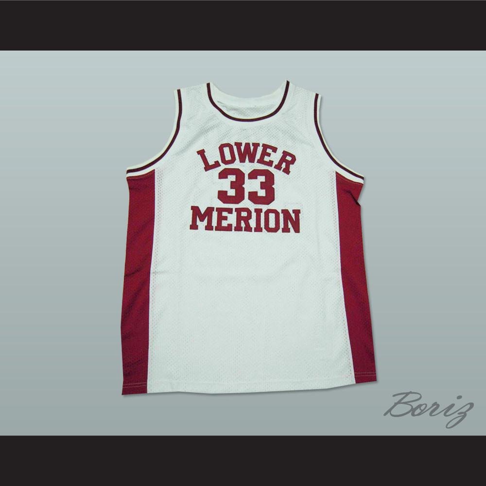 newest 086e5 ffe27 Kobe Bryant Lower Merion High School Basketball Jersey White Stitch Sewn