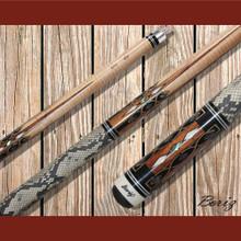 Boriz Billiards Pool Cue Stick Classic Style Serpent Skin AB 169