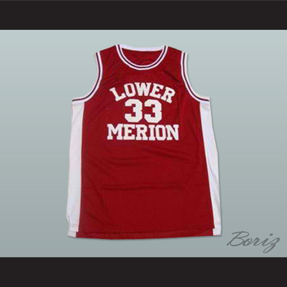 91b7c081334 Kobe Bryant Lower Merion High School Basketball Jersey Maroon Stitch Sewn.  Price   45.99. Image 1