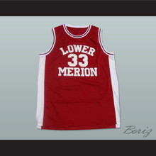 Kobe Bryant Lower Merion High School Basketball Jersey Maroon Stitch Sewn