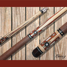 Boriz Billiards Pool Cue Stick Classic Style Brown Serpent Skin JL 524