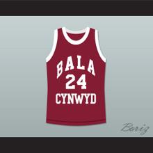 Kobe Bryant 24 Bala Cynwyd Middle School Basketball Jersey Maroon Stitch Sewn