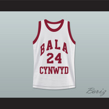 Kobe Bryant 24 Bala Cynwyd Middle School Basketball Jersey White