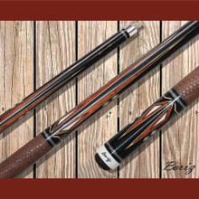 Boriz Billiards Pool Cue Stick Classic Style Brown Serpent Skin JL 70