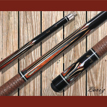 Boriz Billiards Pool Cue Stick Classic Style Brown Serpent Skin with Jump Cue JL 373