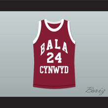 Kobe Bryant 24 Bala Cynwyd Middle School Basketball Jersey Maroon