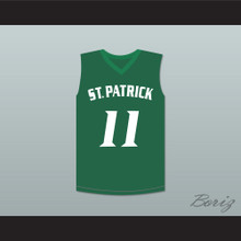 Kyrie Irving 11 St. Patrick High School Basketball Jersey Green Stitch Sewn