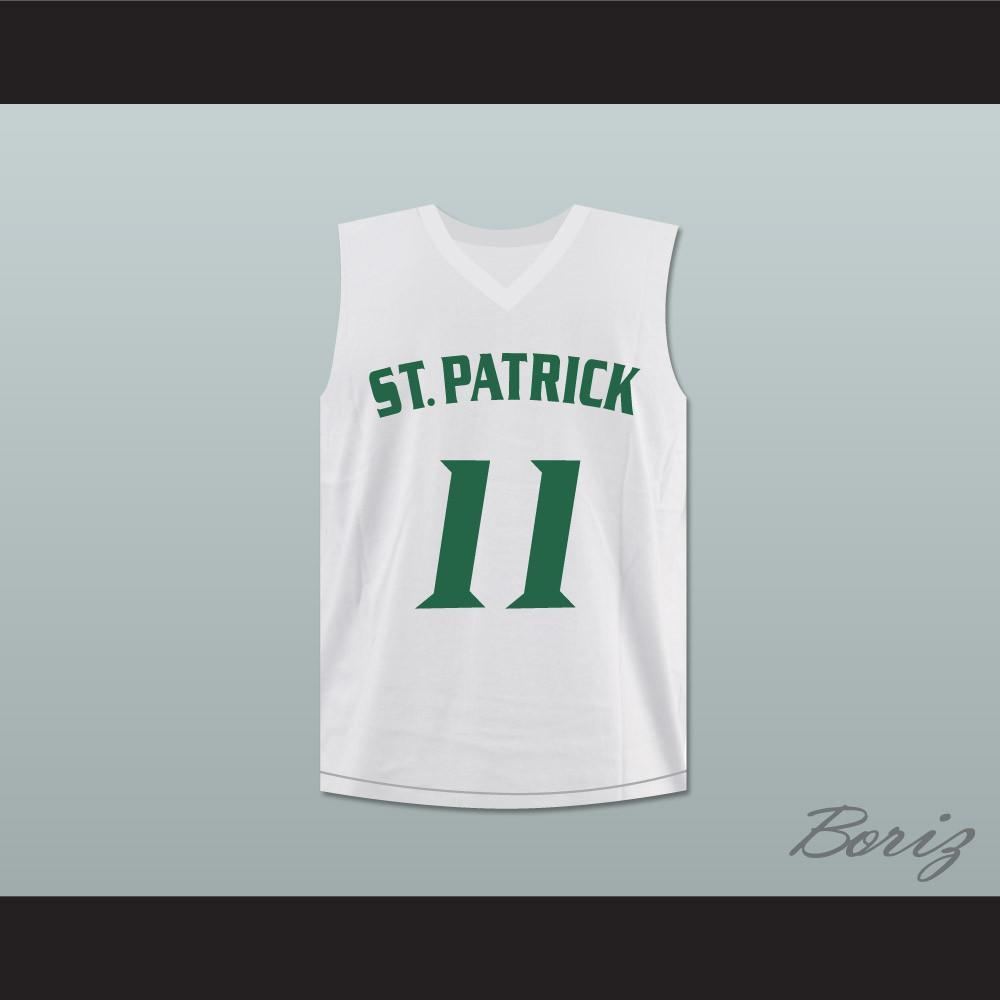 newest bff90 c6ed4 Kyrie Irving 11 St. Patrick High School Basketball Jersey White Stitch Sewn