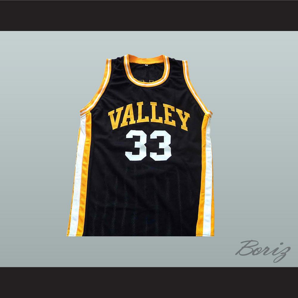 buy popular 277e9 1ff2c Larry Bird 33 Valley High School Basketball Jersey Black New