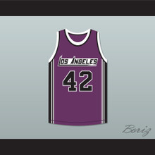 Connie Hawkins 42 Los Angeles Basketball Jersey The Fish That Saved Pittsburgh