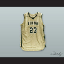 Lebron James Fighting Irish High School Gold Basketball Jersey Stitch Sewn