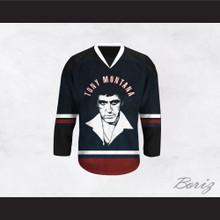 Tony Montana 00 Scarface Black Hockey Jersey