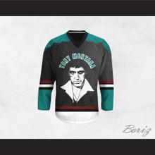 Tony Montana 00 Scarface Diamond Plate Pattern Hockey Jersey