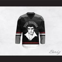 Tony Montana 00 Scarface Gray and Black Hockey Jersey