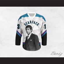 Scarface Tony Montana 13 Geometric Design Hockey Jersey