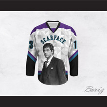 Scarface Tony Montana 13 Triangles Design Hockey Jersey
