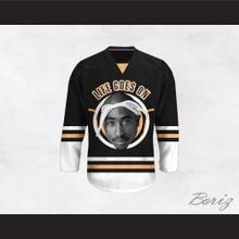 Tupac Shakur 6 Life Goes On Black Hockey Jersey