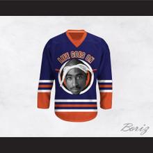 Tupac Shakur 6 Life Goes On Blue Hockey Jersey