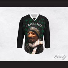 Snoop Dogg 20 I Wanna Rock Cannabis Hockey Jersey Design 1